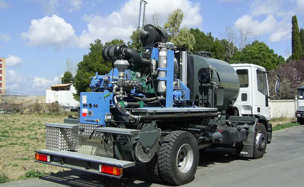Vehículos construcción equipos de alta y máxima presión