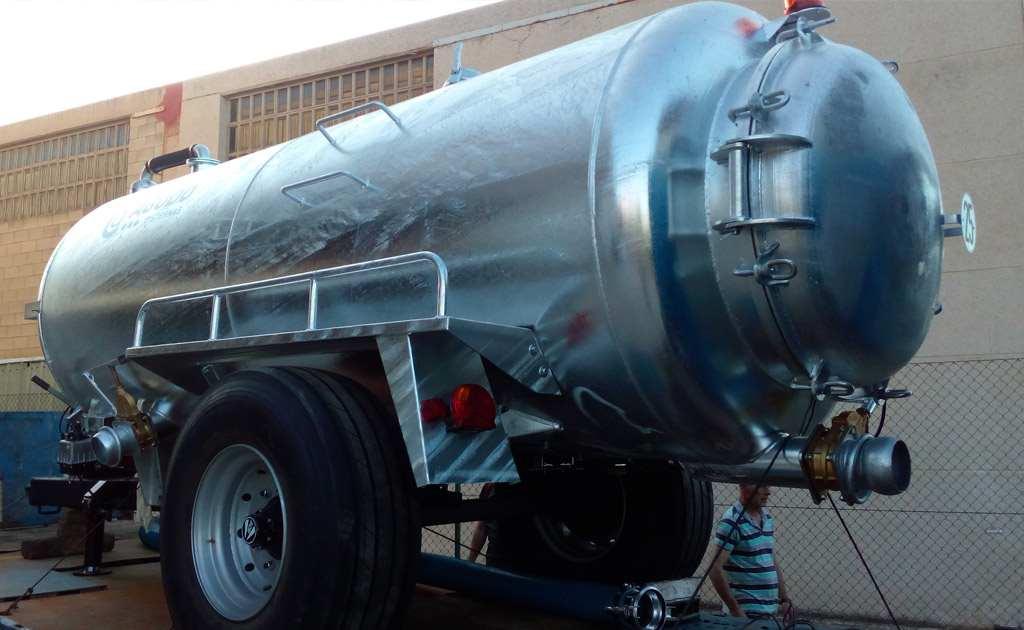 Cisternas para transporte de purines de 1 eje
