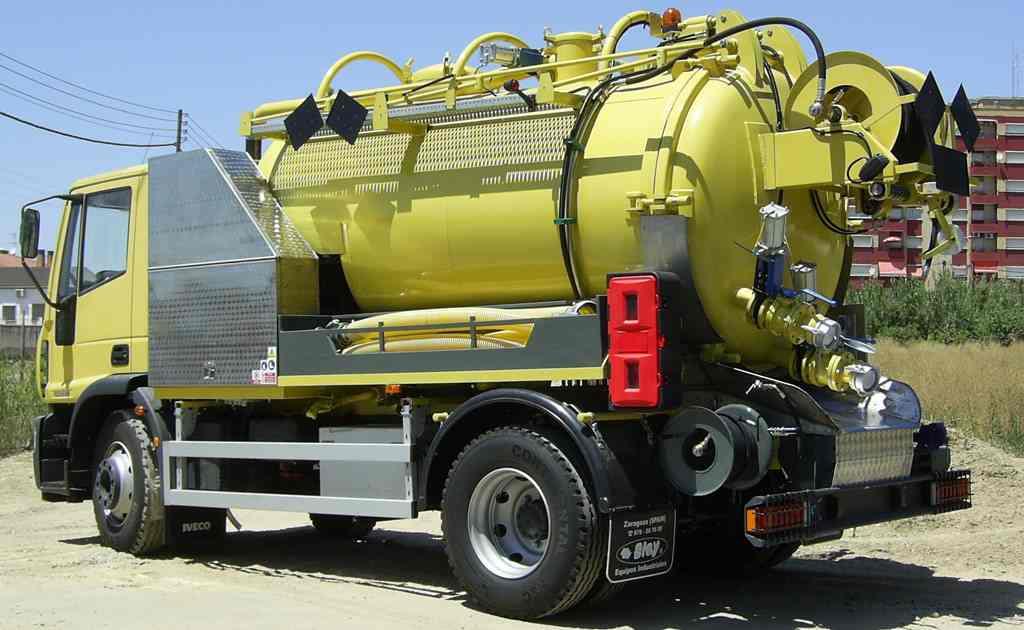 Cisterna para Limpieza Industrial y de grandes canalizaciones